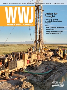 Image of Water Well Journal September 2015